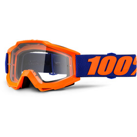 100% Accuri Anti Fog Clear goggles oranje
